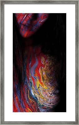 Warrior Of Love Framed Print by Steve K