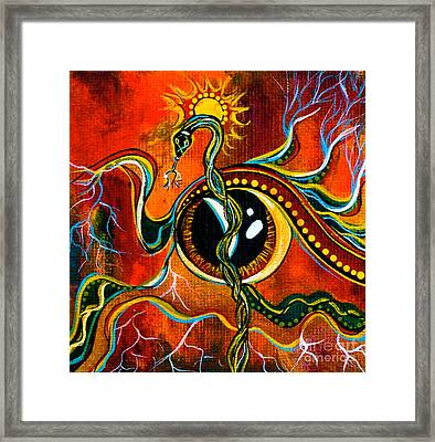 Framed Print featuring the painting Warrior Spirit Eye by Deborha Kerr
