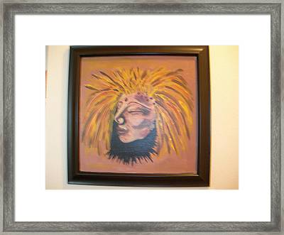 Framed Print featuring the painting Warrior Woman #1 by Sharyn Winters