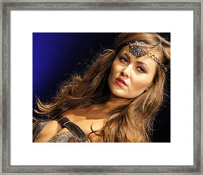 Warrior Woman 2 Framed Print by DerekTXFactor Creative