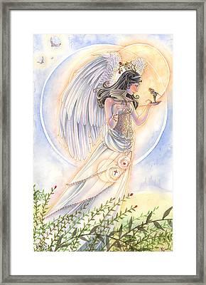 Warrior's Angel Framed Print by Sara Burrier