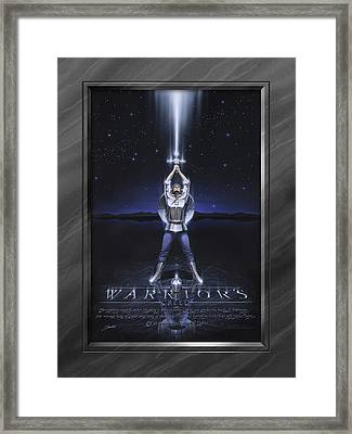 Warriors Creed With Faux Matte Framed Print