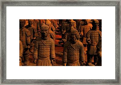 Framed Print featuring the photograph Warriors Terra Cotta by Patricia Januszkiewicz