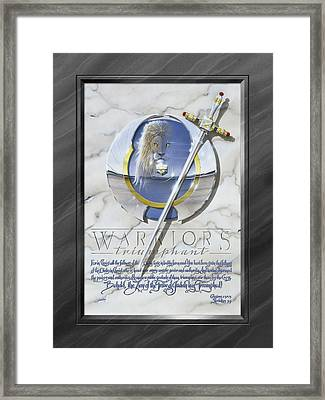 Warriors Triumphant With Faux Matte Framed Print