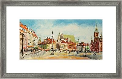 Warsaw- Castle Square Framed Print