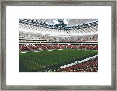 Warsaw Stadion Framed Print by Pati Photography