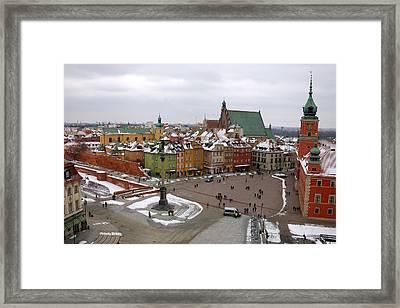 Warsaw Zamkowy Square Framed Print