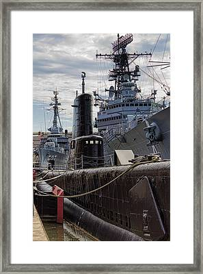 Warship Parking Only Framed Print by Peter Chilelli