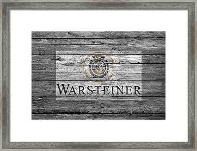 Warsteiner Framed Print by Joe Hamilton