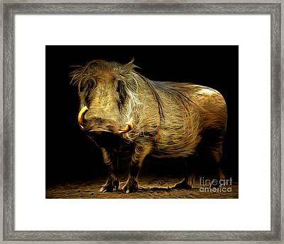 Warthog 20150210brun Framed Print by Wingsdomain Art and Photography