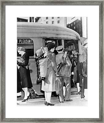 Wartime Modern Papoose Framed Print by Underwood Archives