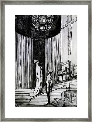 Warwick And The Executioner Framed Print by Charles Ricketts