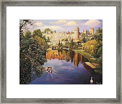 Warwick Castle, 2008 Oil On Canvas Framed Print by Kevin Parrish