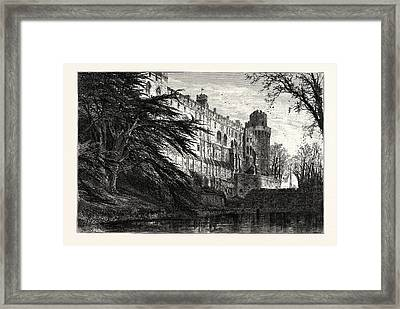 Warwick Castle, From The West, Uk, Britain Framed Print