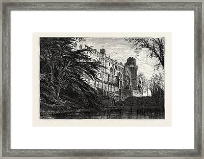Warwick Castle From The West, Uk, Great Britain Framed Print