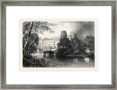 Warwick Castle, Uk, Great Britain, United Kingdom Framed Print