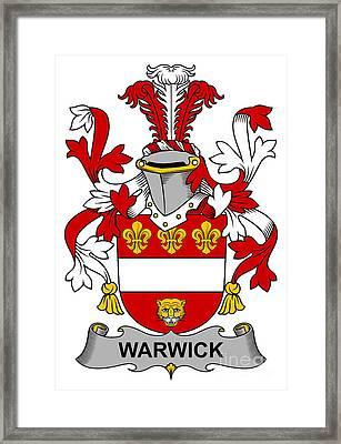 Warwick Coat Of Arms Irish Framed Print