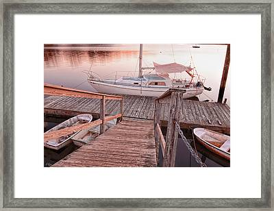 Warwick Marina Park Framed Print by Lourry Legarde