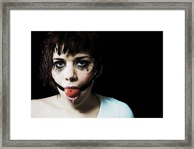 Was It Something I Said Framed Print by Ruby And Wolf