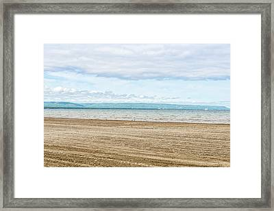 Wasaga Beach With Collingwood And Blue Framed Print