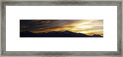 Wasatch Dawn Framed Print by Chad Dutson