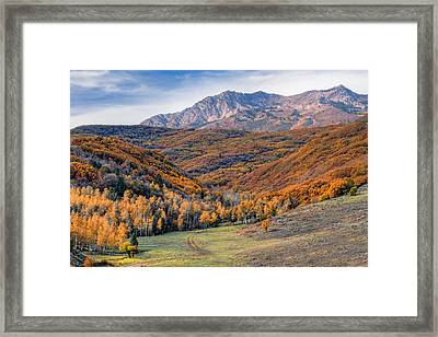 Wasatch Moutains Utah Framed Print