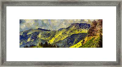Wasatch Range Spring Colors Framed Print by Dan Sproul