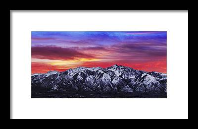 Wasatch Mountains Framed Prints