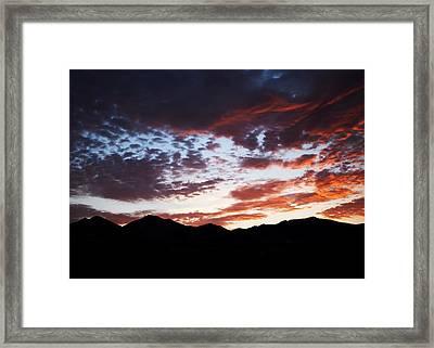 Wasatch Sunrise Framed Print by Rona Black