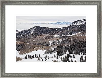 Wasatch Winter Framed Print by Adam Pender