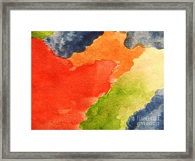 Wash Away Framed Print