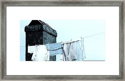 Framed Print featuring the photograph Wash Day Blues In New Orleans Louisiana by Michael Hoard