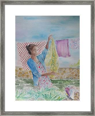 Wash Day Framed Print by Gloria Jones
