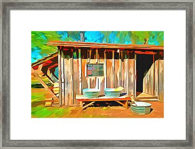 Wash Day Framed Print by L Wright