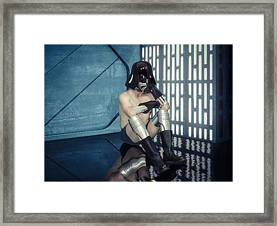 Wash Day On The Death Star Framed Print by Randy Turnbow
