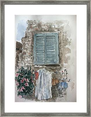 Wash Day Framed Print by Stephanie Sodel