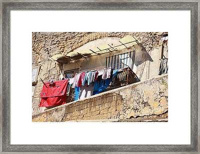 Wash Day The Old Way Framed Print