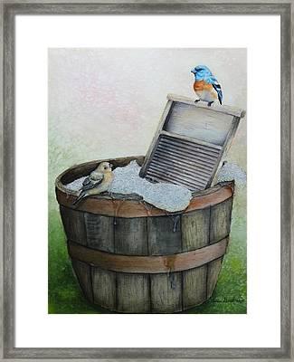 Wash Day Framed Print by Theresa Stinnett