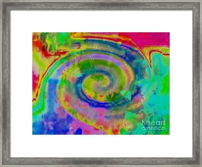 Wash Of Color Framed Print