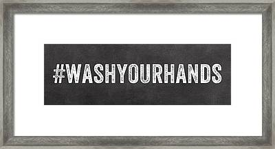 Wash Your Hands Framed Print by Linda Woods