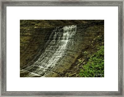 Washboard Falls Framed Print