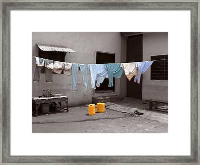 Washday Mindscape Ibadan Nigeria Framed Print