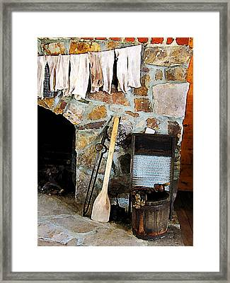 Washday Framed Print