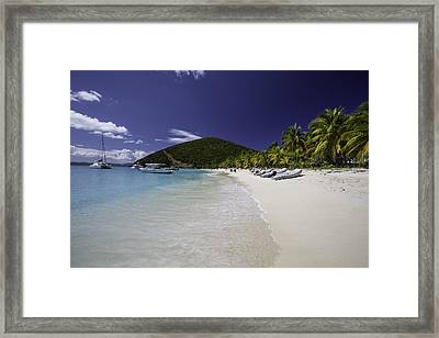 Washed Ashore At Jost Van Dyke Framed Print