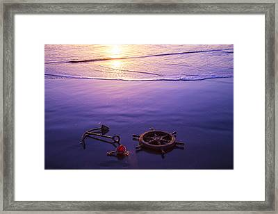 Washed Ashore Framed Print by Garry Gay