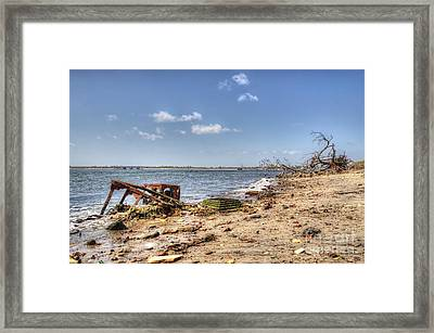 Washed Ashore Framed Print by Rick Kuperberg Sr