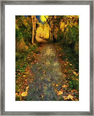 Washed In Gold Framed Print