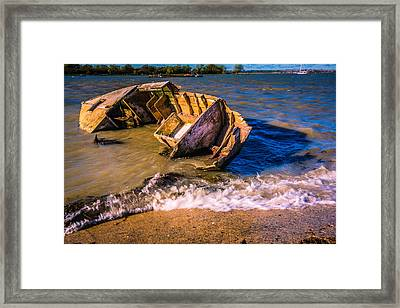 Washed Up Framed Print by Dawn OConnor