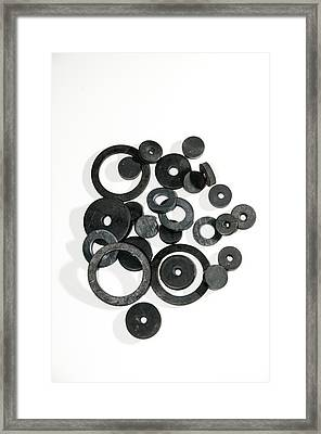 Washers And Plumbing Tools Framed Print by Photostock-israel