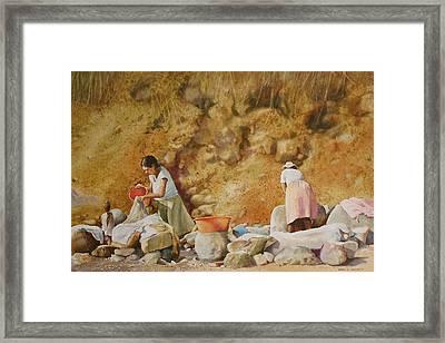 Washerwomen Framed Print by Karol Wyckoff
